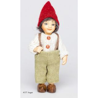 Birgitte Frigast / Porcelain doll Asgar, 10 cm