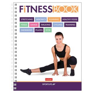 Diary for fitness, A5, 96 sheets, comb, glossy lamination, HATBER,