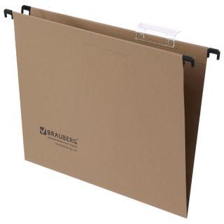 Hanging folder A4 (350х245 mm), up to 80 sheets, SET of 10 PCs., cardboard, BRAUBERG (Italy)