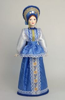 Doll gift porcelain. Girlish summer suit (styling). The beginning of the 20th century, Russia.