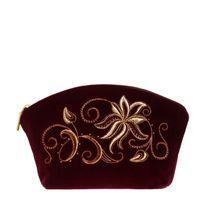 Velvet cosmetic bag 'Minuet'