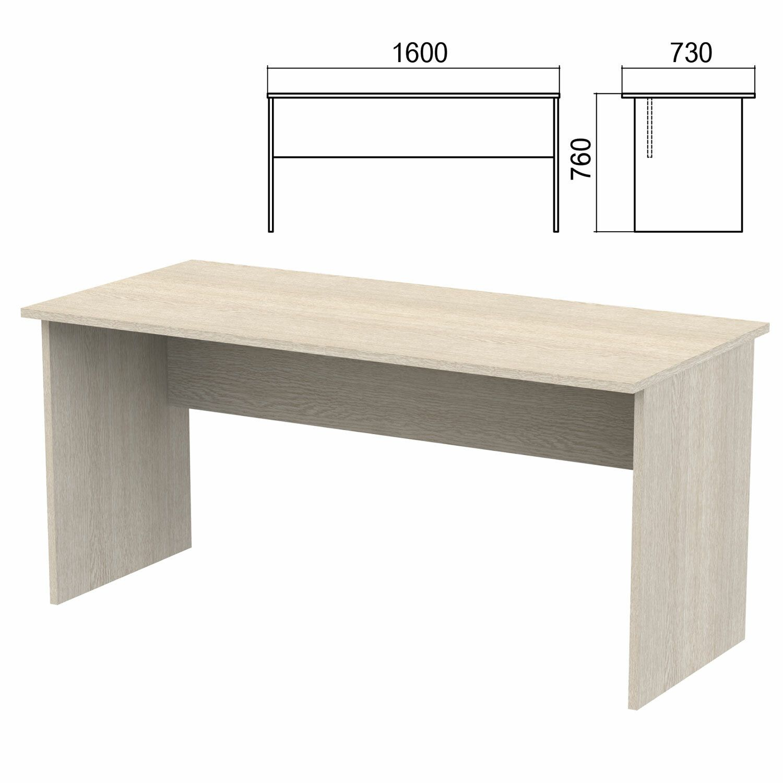 "Table written ""Argo,"" 1600x730x760 mm, ash shimo"