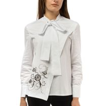 Blouse womens flora white with silk embroidery