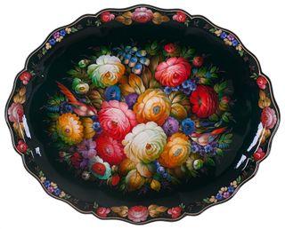 Zhostovo / Unique forged tray, author Solomatina N. 72x57 cm