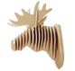 3D shape – a moose Head, KVK Brown - view 2