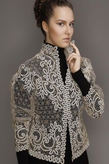 Women's lace jacket with sleeves