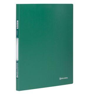 Folder with side metal clip BRAUBERG standard, green, 100 sheets 0.6 mm