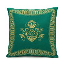 Cushion divan 'Dreams', green with gold embroidery