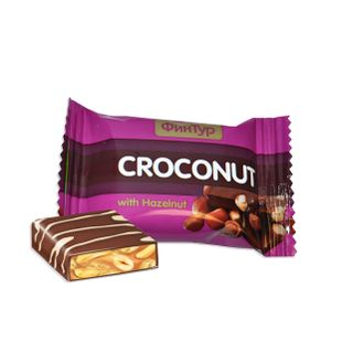 """Candy """"Croconut"""" with hazelnut / chocolate with cracker / with pistachios and with a cracker"""