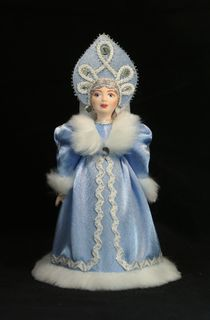 The snow maiden. Fairy tale character. Doll gift