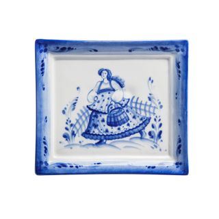 Plaque Rectangular small Gzhel Porcelain factory