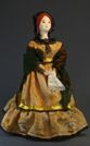 Doll gift porcelain. The merchant's wife in pavloposad shawls.19th century. Russia - view 1