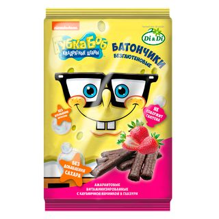 Gluten-free bars Spongebob with filling in glaze 110 g