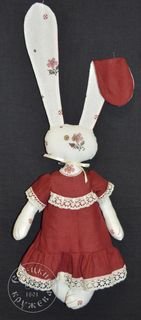 "Textile toy ""Hare in a dress"""