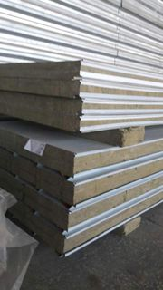 Wall sandwich panels with basalt insulation