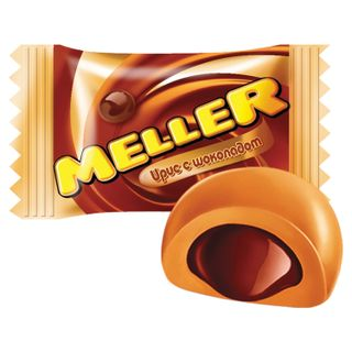 MELLER / Chocolate-toffee sweets, by weight, corrugated box, 4 kg