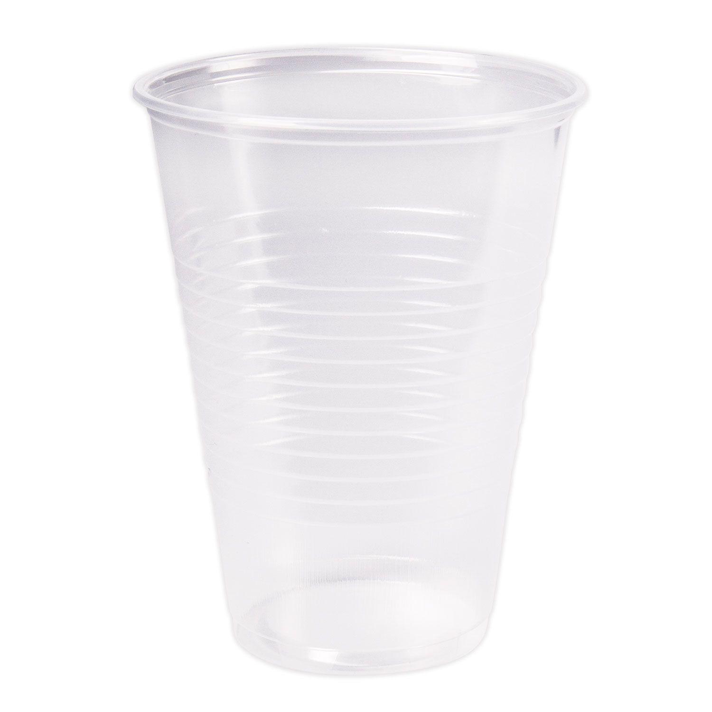 "STIROLPLAST / Disposable cups 200 ml, SET 100 pcs., Plastic, ""ECONOM"", transparent, PP"
