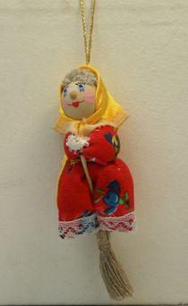 Doll gift. Baba Yaga, little