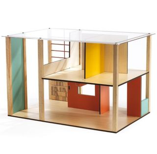 Wooden doll house without furniture