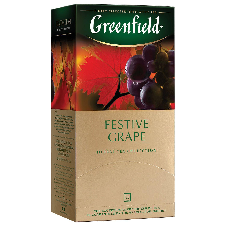 GREENFIELD / Festive Grape fruit tea, 25 sachets in envelopes of 2 g