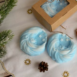 Soap olive New Year's Month blue