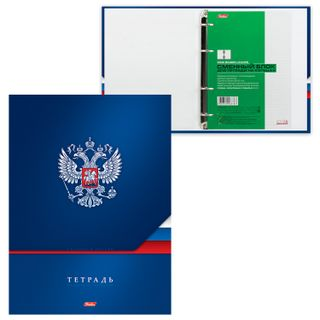 Notebook on rings BIG FORMAT (225x300 mm) A4, 160 sheets, cover laminated cardboard, cage, HATBER,