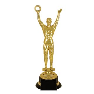 Oscar prize, plastic (100x100x305 mm), black plastic base,