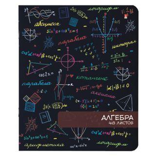 Notebook subject BRIGHT MOOD 48 sheets, TWIN varnish, ALGEBRA, cell, ALT