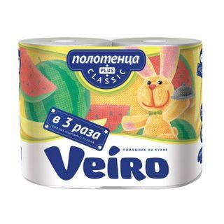 VEIRO / Household paper towels Classic Plus white 2-layer (2x37.5 m), solder 2 pcs.