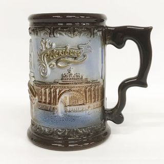 Ceramic mug with a relief image of St. Petersburg