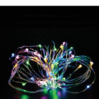 """GOLDEN TALE / LED electric garland """"Dew"""", 20 lamps, 2 m, multicolor, battery operated"""