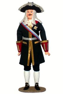Doll gift. Admiral. The military uniform. The beginning of the 19th century. Russia.