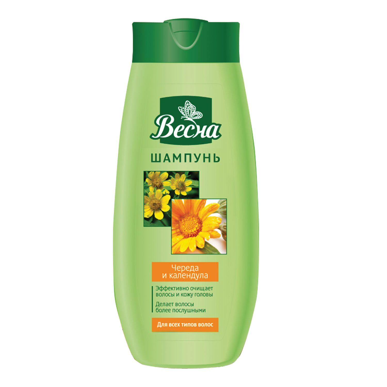 "Shampoo 430 ml, VESNA, for all hair types, ""Burl and Calendula"""