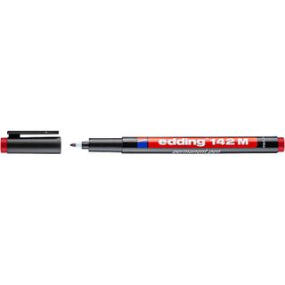Edding / Permanent marker, for projection films, round tip, 1 mm Red