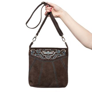 Dragonfly Suede Bag