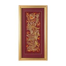 Panel 'the bird Phoenix' red color with Golden embroidery