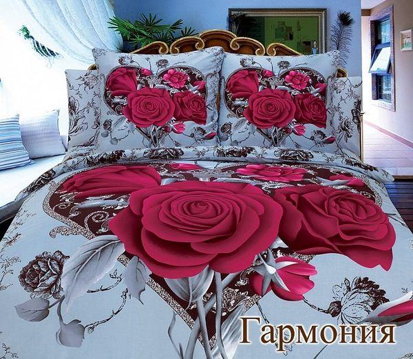 Satin bed linen 3D Harmony