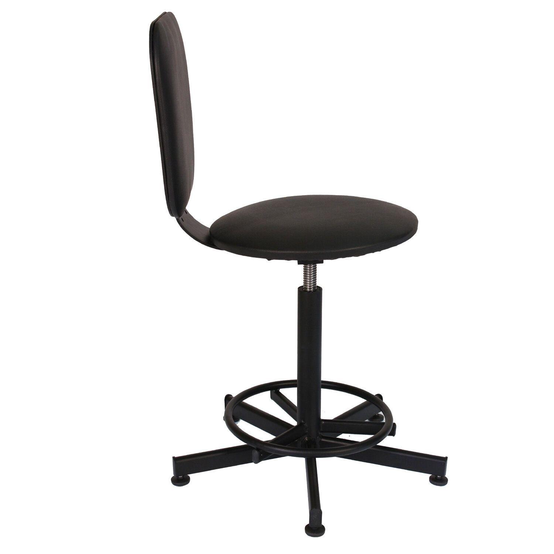 Cashier's armchair, reception PC37, without armrests, leatherette, black