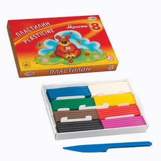 Clay GAMMA classic Cartoons 8 colors, 160 g, with stack, carton