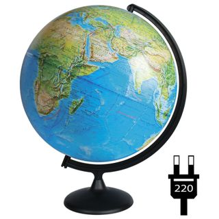 Globe physical/political diameter 420 mm, with backlight