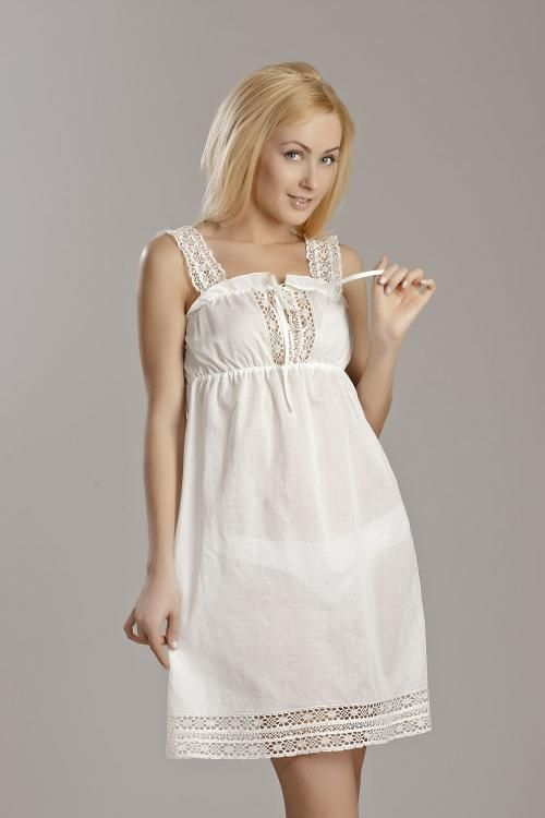 "Chemise nightwear women's ""Sweet fantasy"" semi-fitted silhouette with lace"