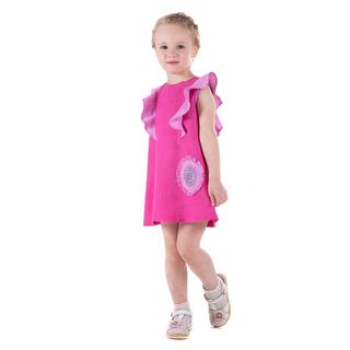 Dress baby Caramel pink with silk embroidery