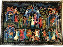 The casket Palekh 'the masquerade Ball', master Sirakov