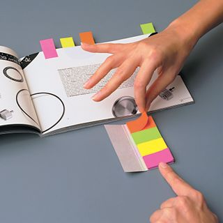 Bookmark adhesive POST-IT, paper, 12.7 mm, 10 colors x 50 PCs.