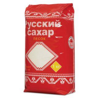 "RUSSIAN. / Granulated sugar ""Russian"", 1 kg, plastic packaging"