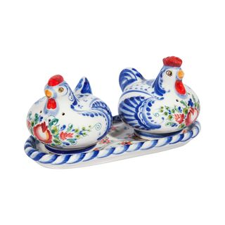 "Set for spices ""Bird house"", Gzhel Porcelain factory"
