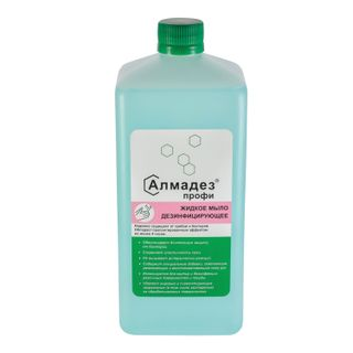 ALMADEZ / Liquid disinfectant soap 1 l, PROFI, with prolonged antimicrobial effect, lid