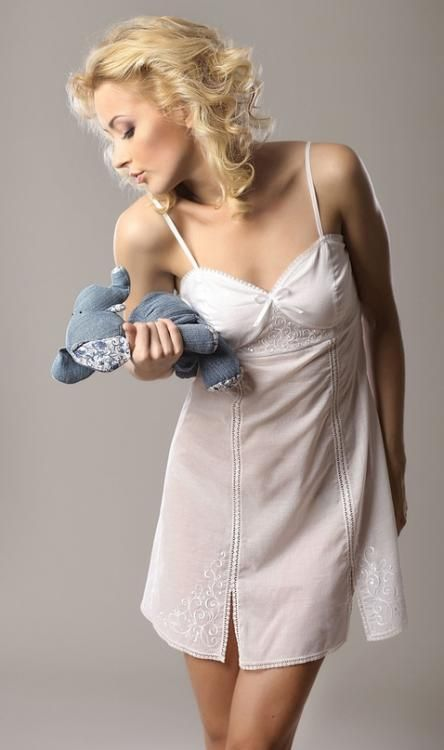 "Chemise nightwear women's ""Sweet fantasy"" semi-fitted silhouette"