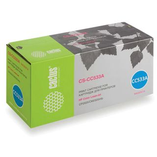 Toner cartridge CACTUS (CS-CC533A) for HP ColorLaserJet CP2025 / CM2320, magenta, yield 2800 pages