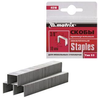 Staples for furniture stapler, type 53, 10 mm, MATRIX